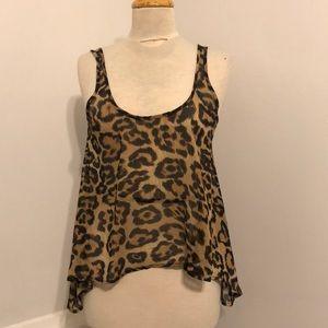 Audrey 3+1 cheetah Flowy tank